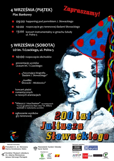 Plakat obchodów 200 rocznicy urodzin J. Słowackiego