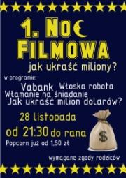Plakat 1. Nocy Filmowej wCzackim